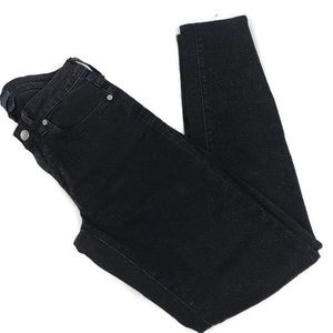 Levi's Jeans Black Empire Mid Rise Cropped Black